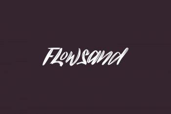 Flowsand Free Font