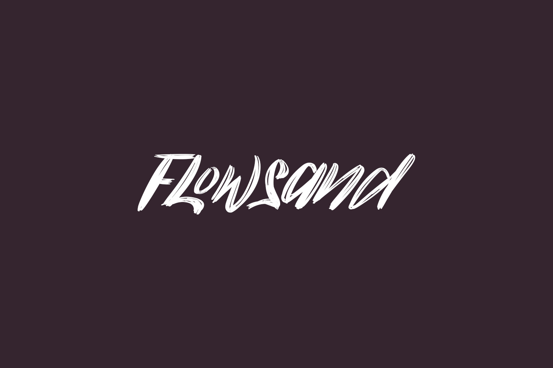 Flowsand Free Font