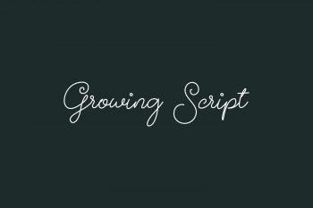 Growing Script Free Font