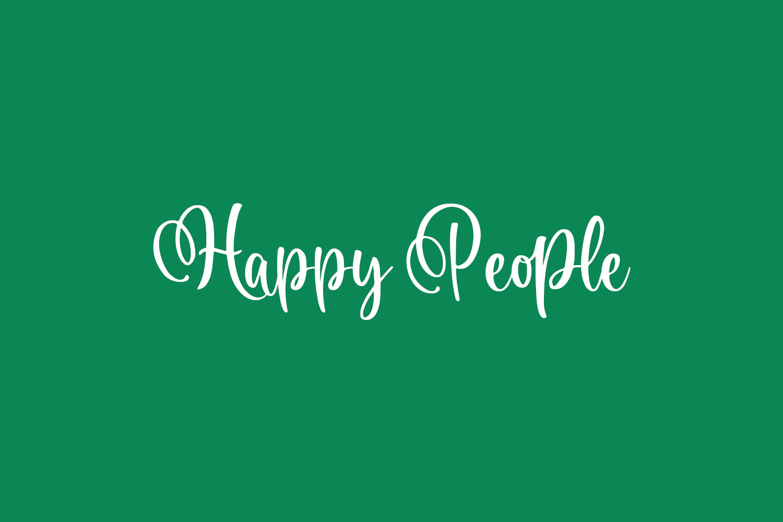 Happy People Free Font