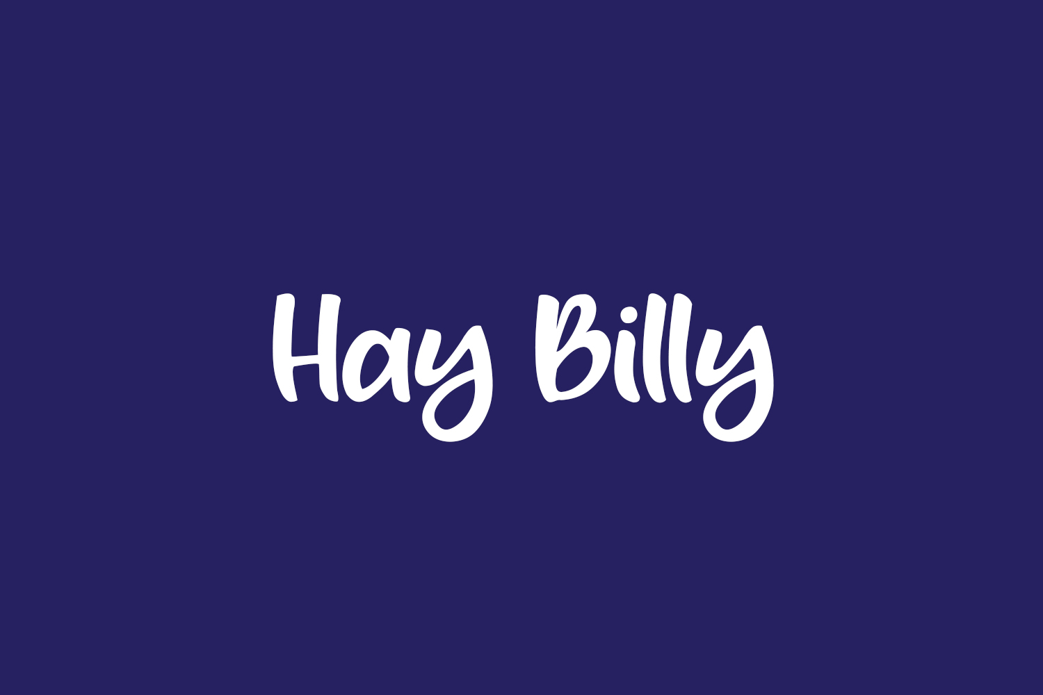 Hay Billy Free Font