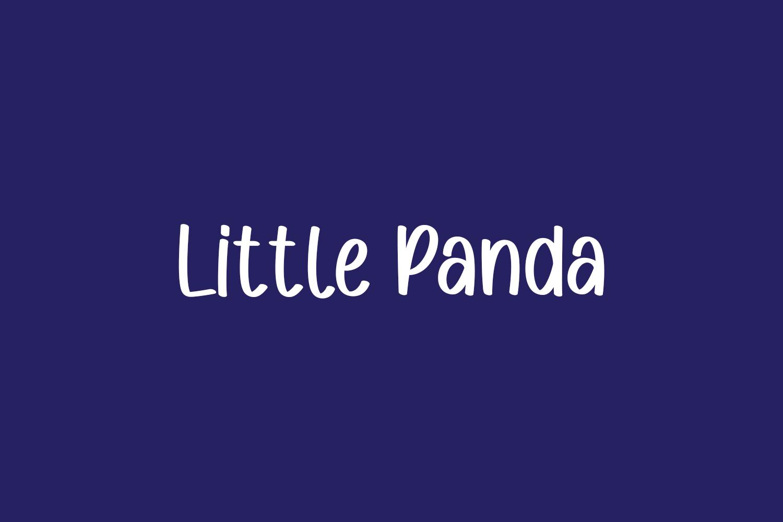 Little Panda Free Font