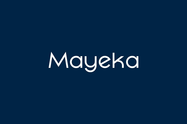 Mayeka Free Font