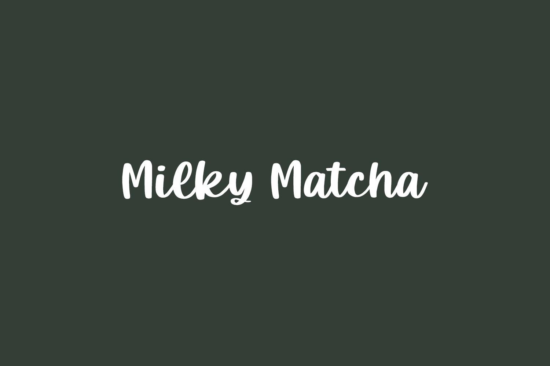 Milky Matcha Free Font