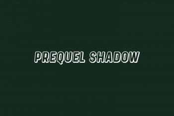 Prequel Shadow Free Font