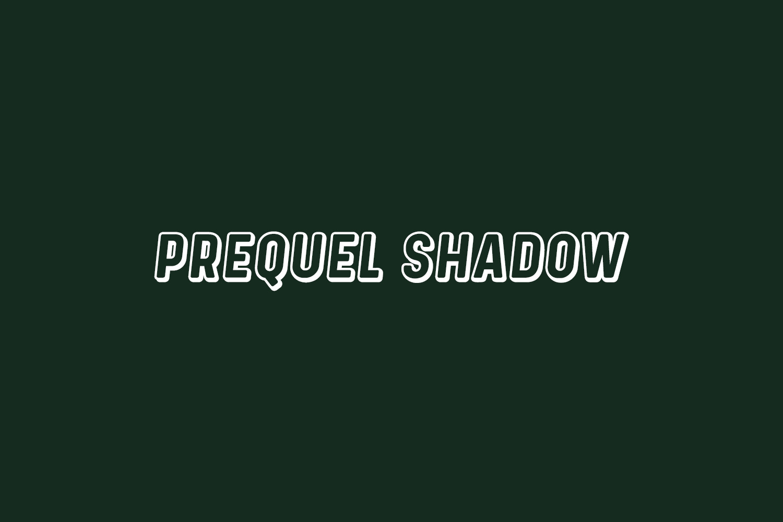 Prequel Shadow Free Font