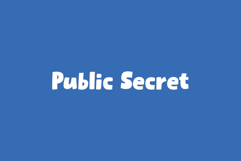 Public Secret Free Font