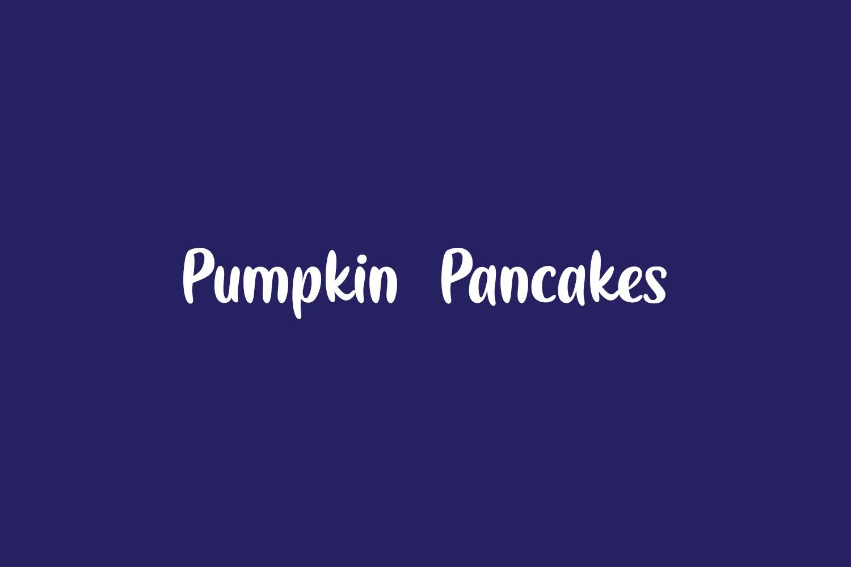 Pumpkin Pancakes Free Font