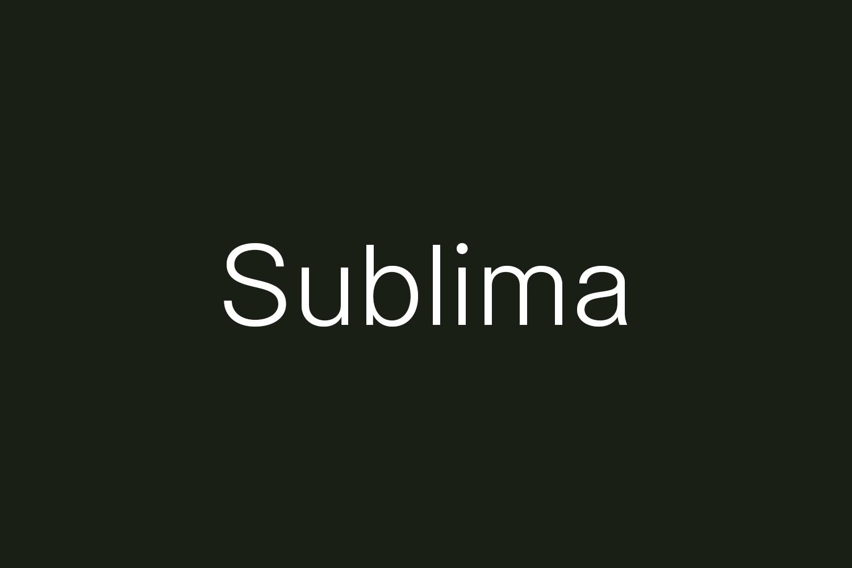 Sublima Free Font