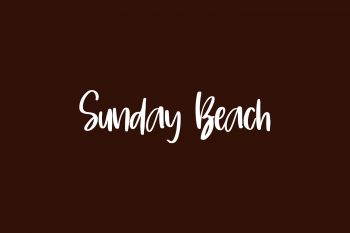Sunday Beach Free Font