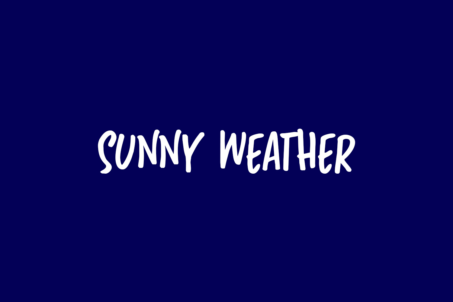 Sunny Weather Free Font