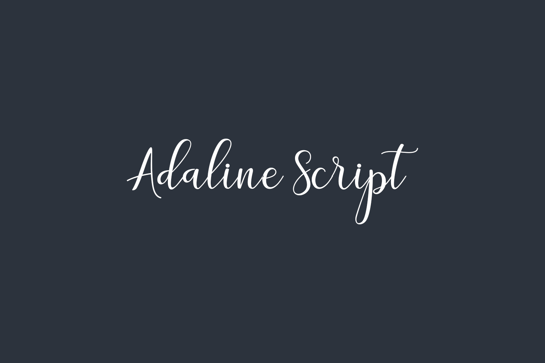 Adaline Script Free Font