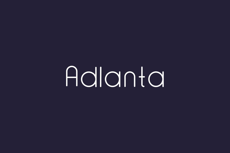 Adlanta Free Font