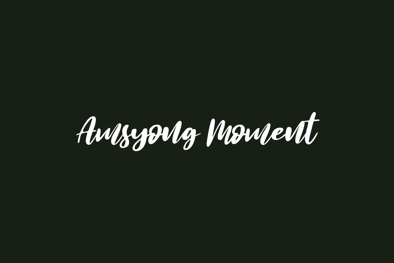 Amsyong Moment Free Font