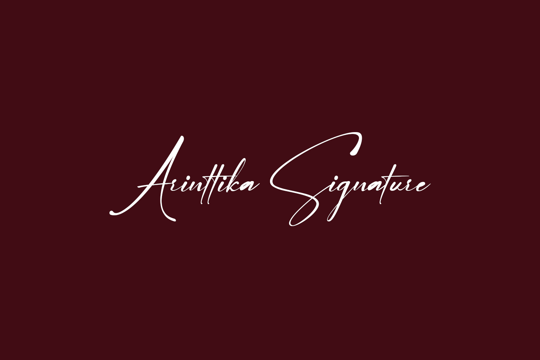 Arinttika Signature Free Font
