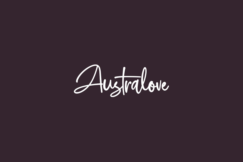Australove Free Font