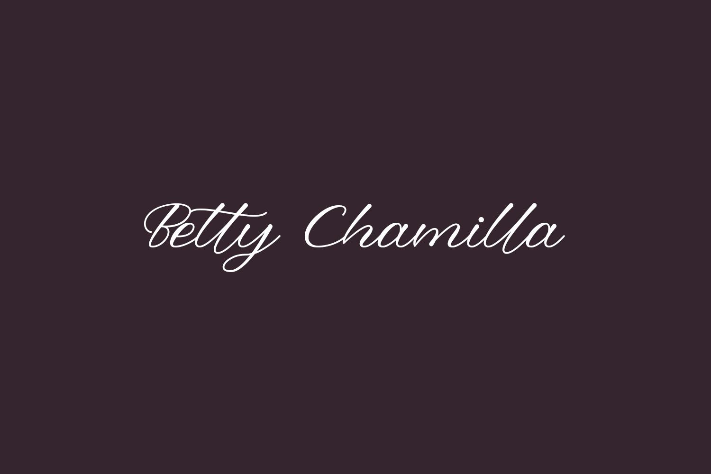 Betty Chamilla Free Font