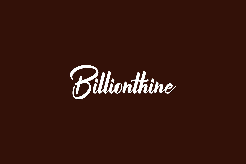 Billionthine Free Font
