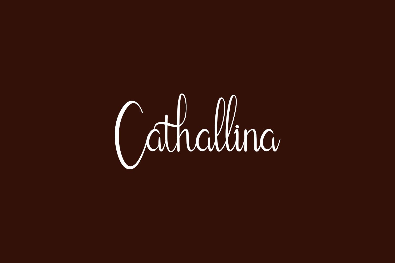 Cathallina Free Font