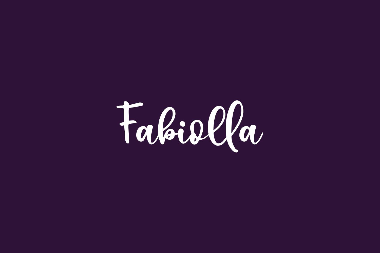 Fabiolla Free Font