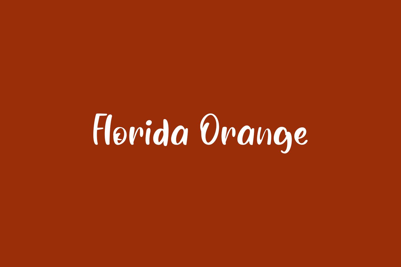 Florida Orange Free Font