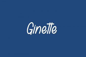 Ginette Free Font