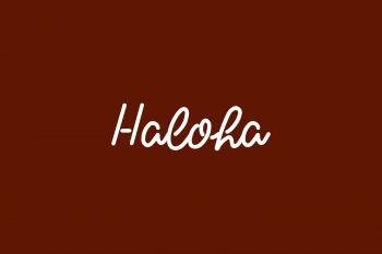 Haloha Free Font