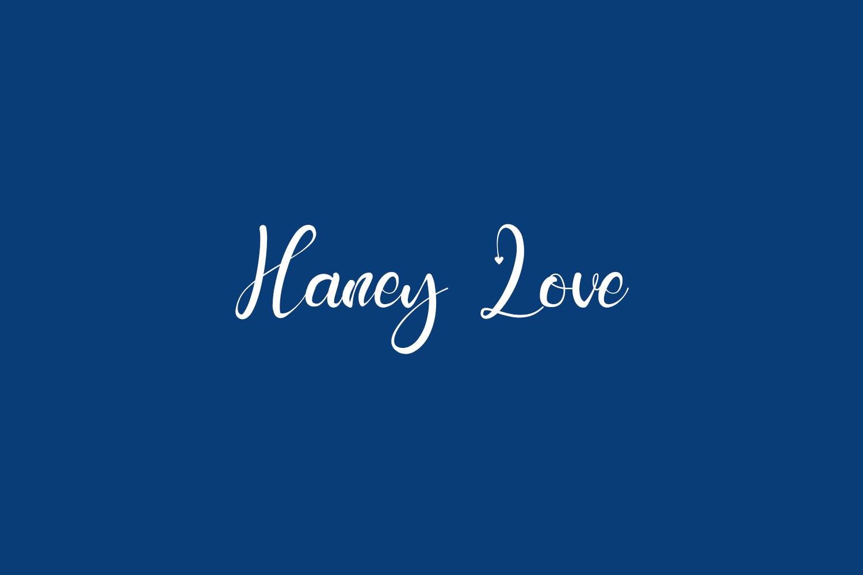 Haney Love Free Font