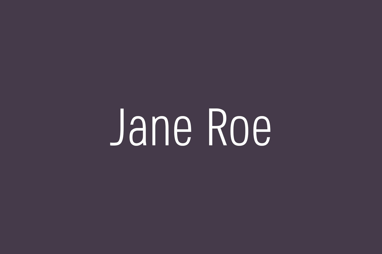 Jane Roe Free Font