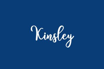 Kinsley Free Font