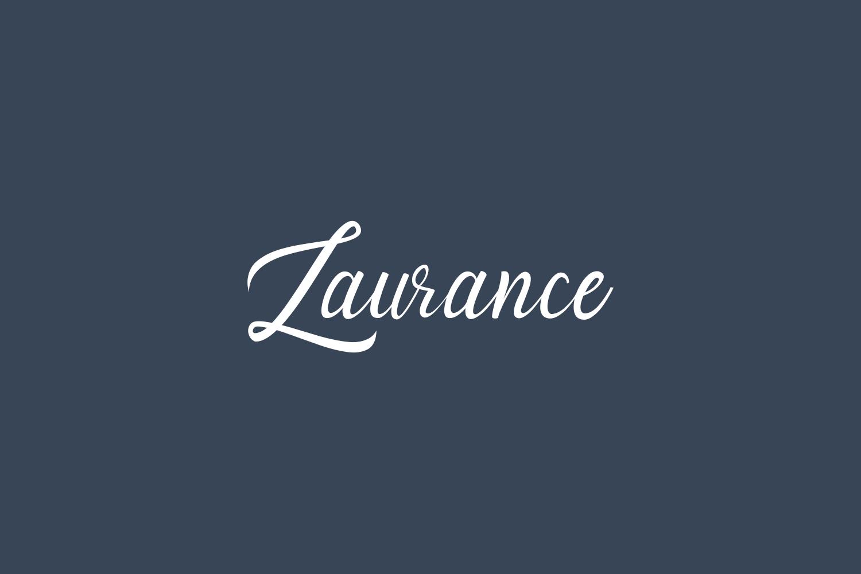 Laurance Free Font
