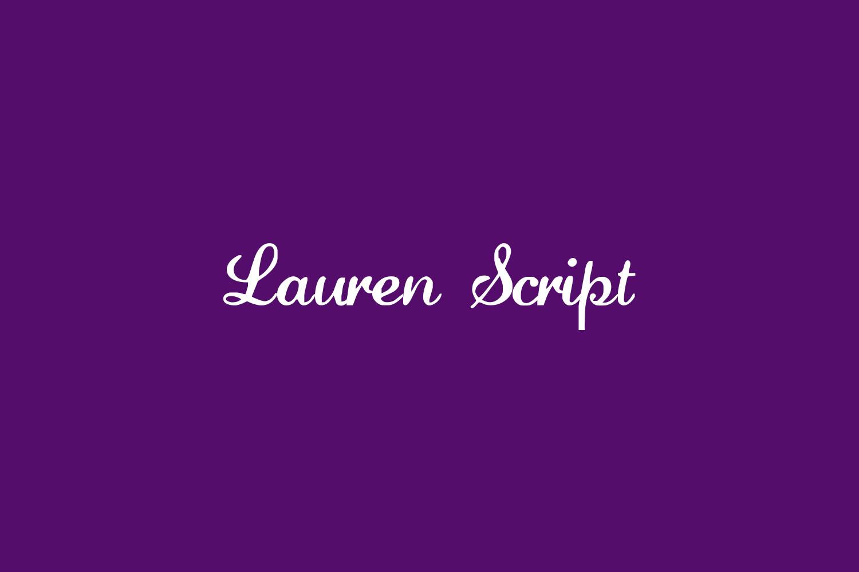 Lauren Script Free Font