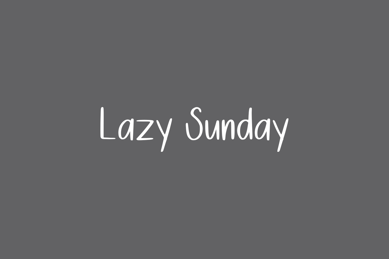 Lazy Sunday Free Font