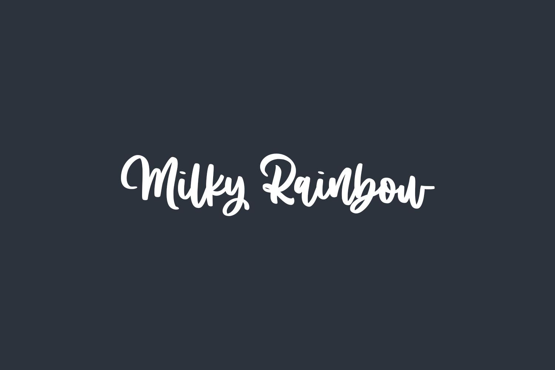Milky Rainbow Free Font