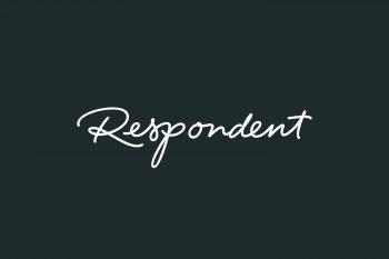 Respondent Free Font