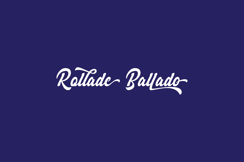 Rollade Ballado Free Font