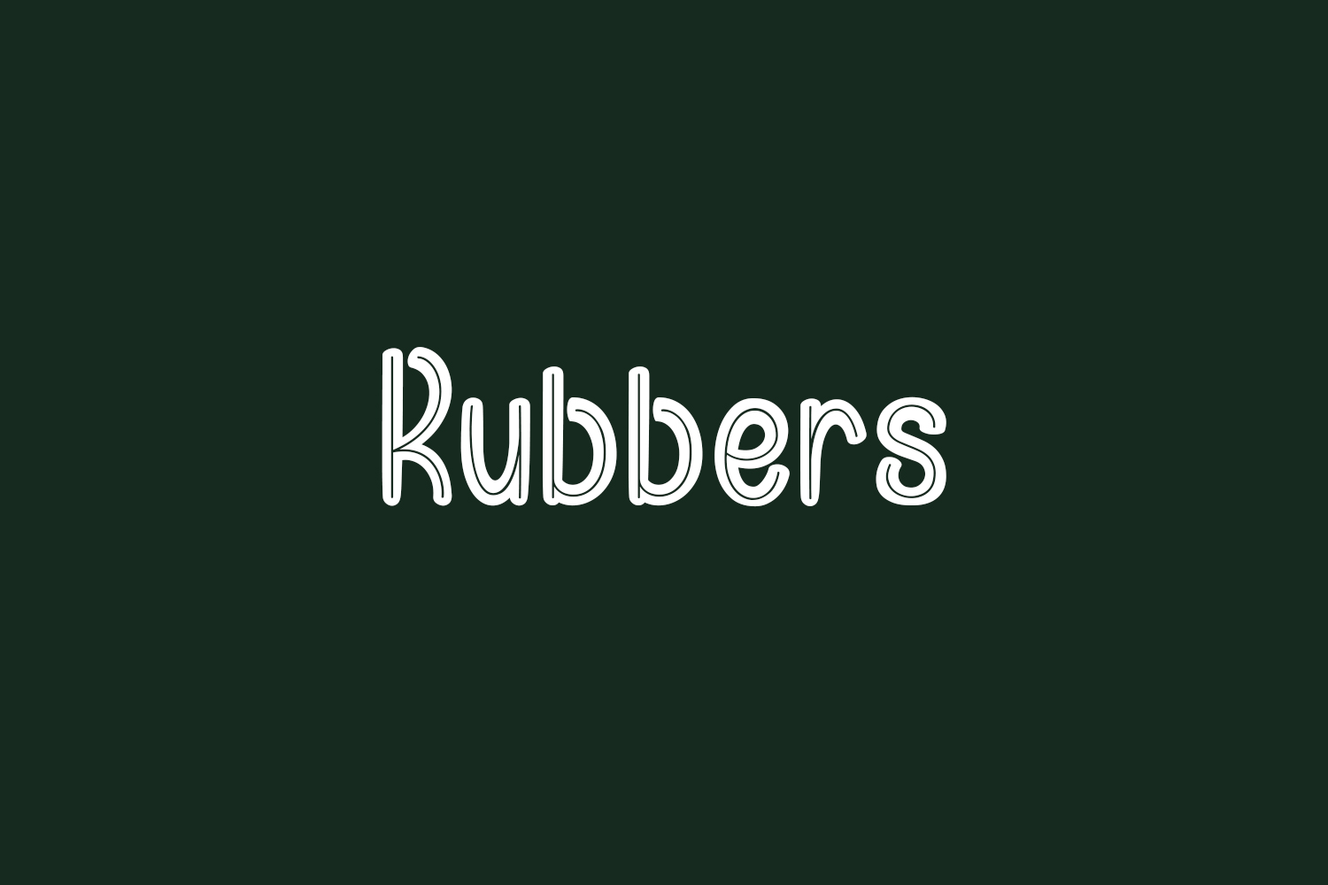 Rubbers Free Font
