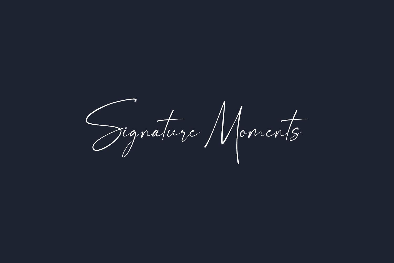 Signature Moments Free Font