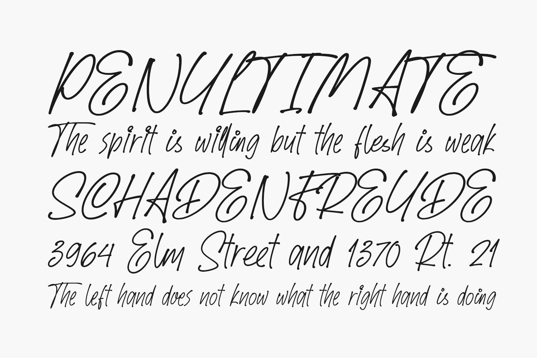 Speed Written Free Font