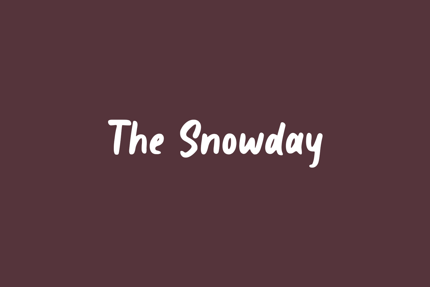 The Snowday Free Font