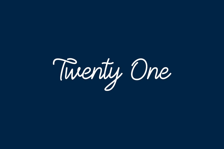 Twenty One Free Font