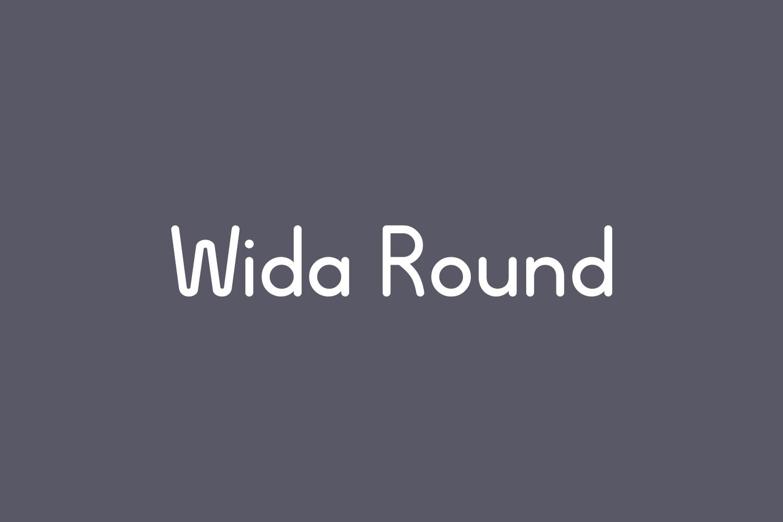Wida Round Free Font