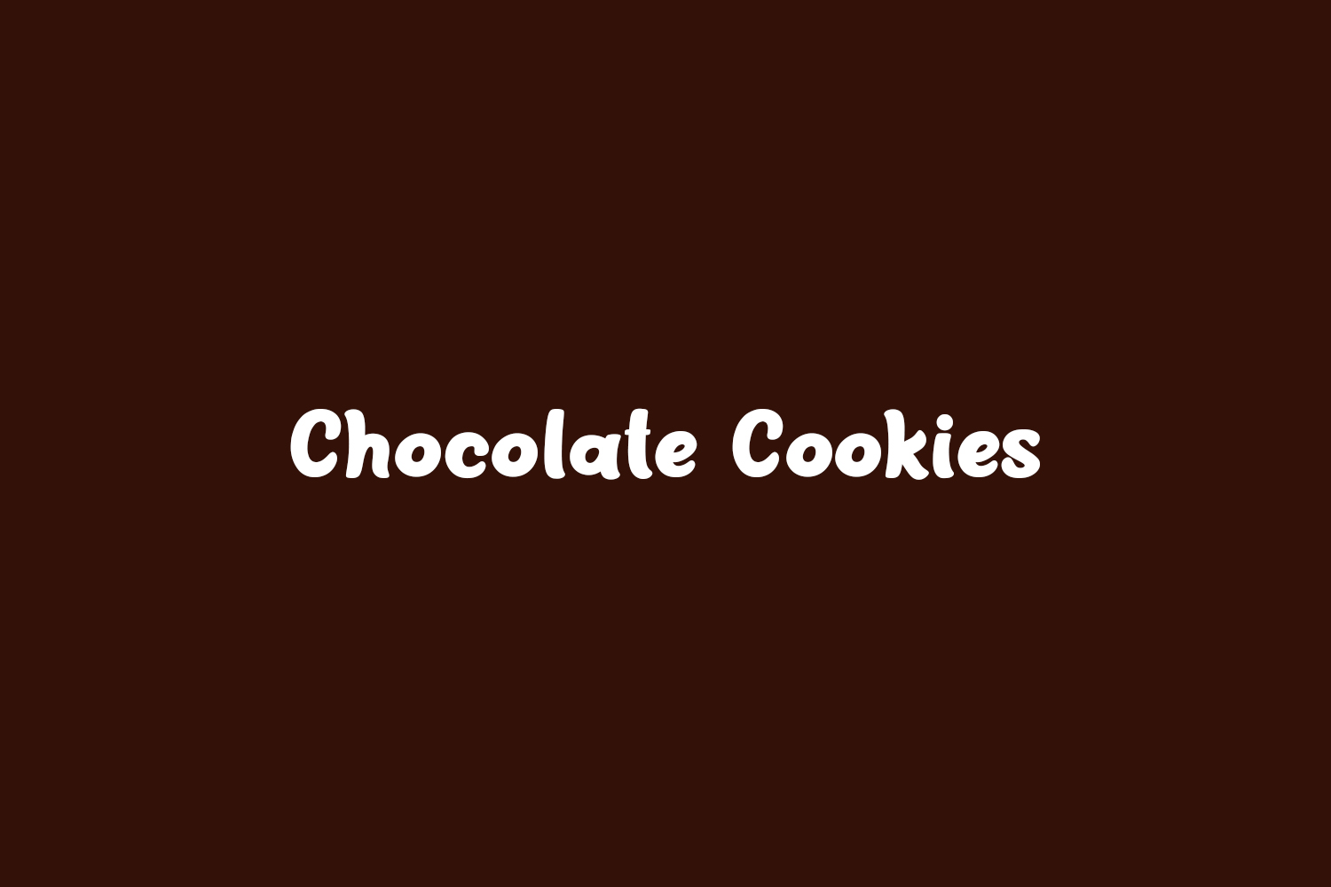 Chocolate Cookies Free Font