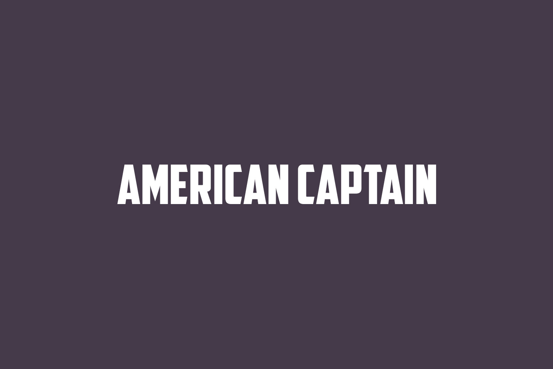 American Captain Free Font