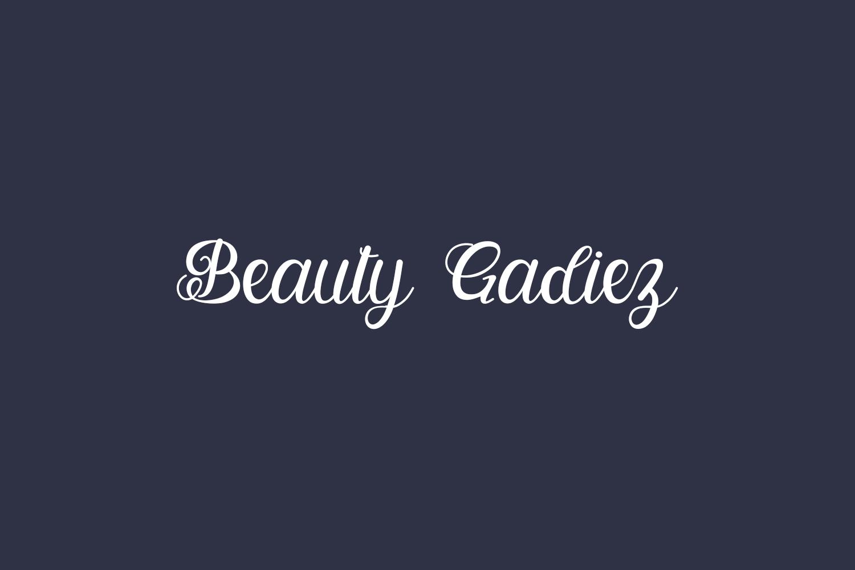 Beauty Gadiez Free Font