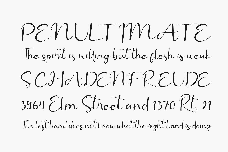 Benillia Free Font