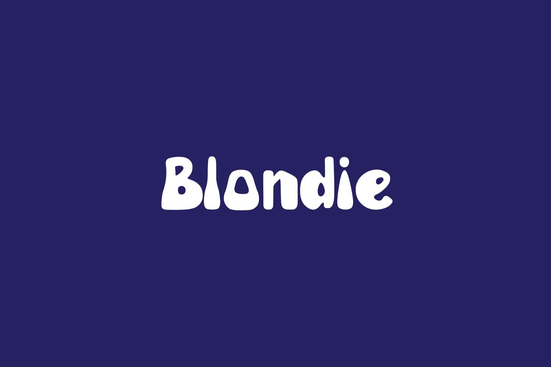 Blondie Free Font