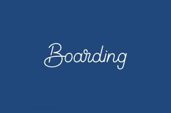 Boarding Free Font