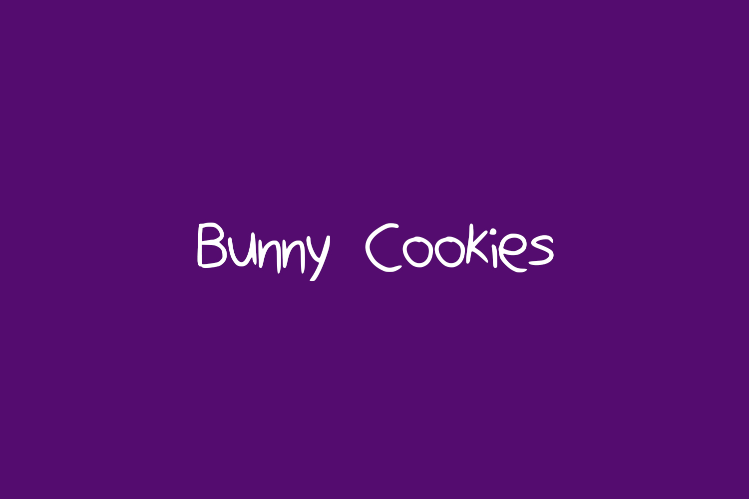 Bunny Cookies Free Font