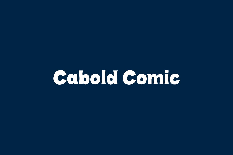 Cabold Comic Free Font